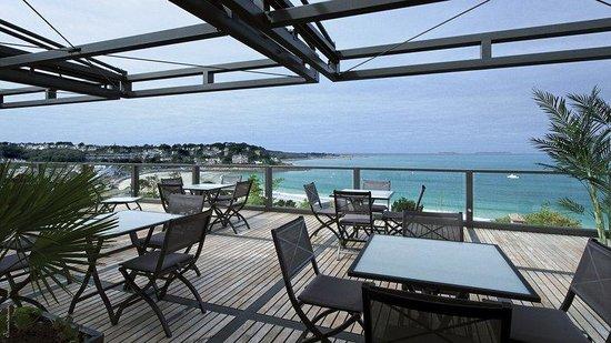 L'Agapa Hotel SPA Nuxe : Restaurant Terrace