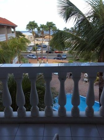Casa Del Mar Beach Resort : our view from balcony, Ambassador Suite