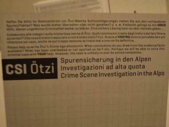 Südtiroler Archäologiemuseum : investigazioni ad alta quota