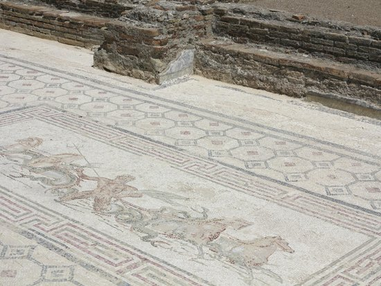 Ancient Olympia: Remaining of Mosaic tiles