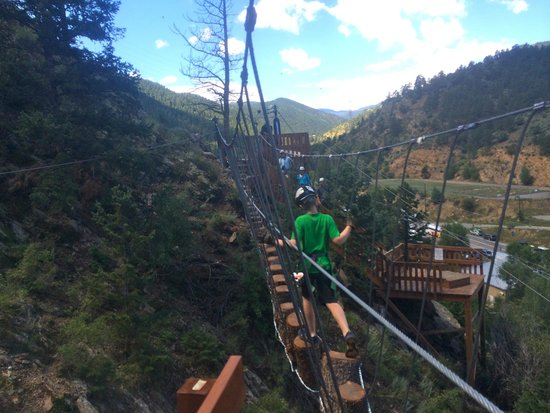 Arkansas Valley Adventures - Day Trips : zip line obstacles