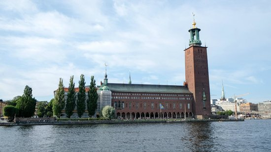 Stockholm City Hall: City Hall from the water