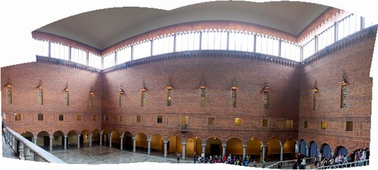 Hôtel de ville : Blue Hall panorama