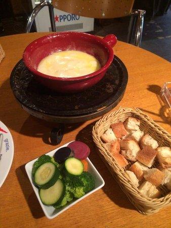 Atelier de Fromage : チーズフォンデュ1人前+追加温野菜