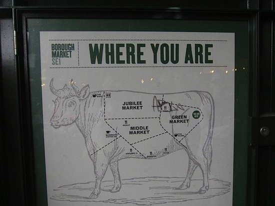 Map of Borough Market