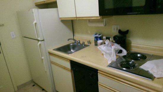 Larkspur Landing Sacramento : Küchenzeile - Kühlschrank allerdings sehr laut
