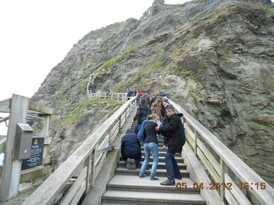 Tintagel Castle : Up we go.