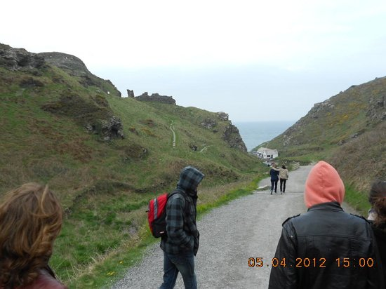 Tintagel Castle: long way to the top