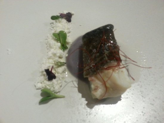 Lua: Cod with truffle powder,  looked amazing