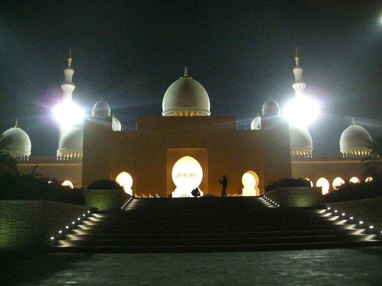 Mezquita Sheikh Zayed: вид ночью
