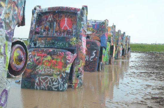 Cadillac Ranch: auto e acqua