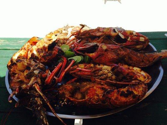 Macao Beach: Pranzo con Aragoste in spiaggia