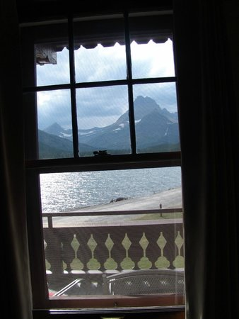 Many Glacier Hotel: The view from our room