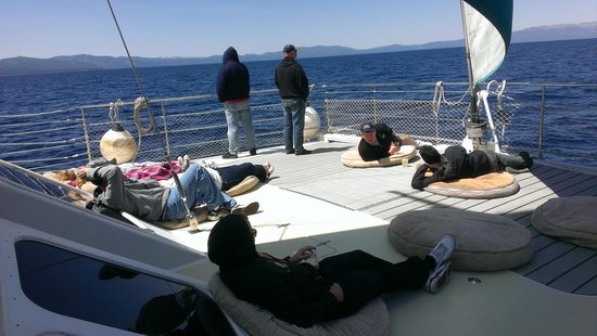 Tahoe Cruises: lounging on the deck