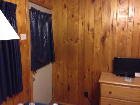 The Outpost Motel: Room 2, toward door into common area looking out toward lake