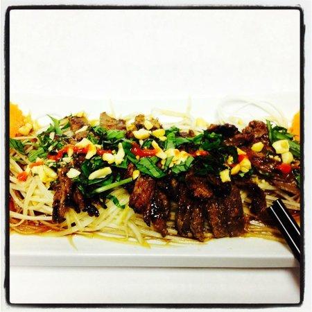 Restaurant Charme Cochinchine: Salade de Papaye avec boeuf