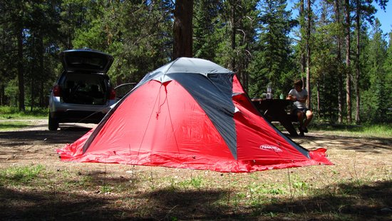 Whistlers Campground : Piazzola con tenda