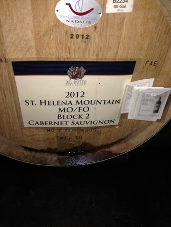 Del Dotto Vineyards & Winery: Del Dotto MoFo Cab barrel