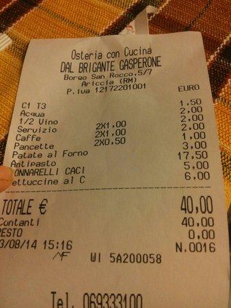 Ariccia, Itália: Ottimo rapporto qualità -prezzo !