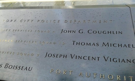 Memorial del 11S: The names of the missing people are all there