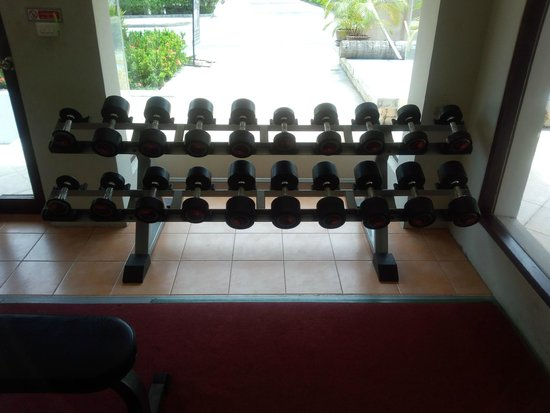 Novotel Samui Resort Chaweng Beach Kandaburi: Gym(dumbells from 2kg to 20kg. 2kg increment.)