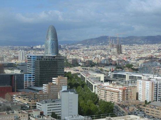 Meliã Barcelona Sky: Vue depuis notre chambre au 7ème