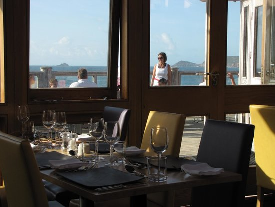 The Beach Restaurant: cape cornwall and whitesand bay view