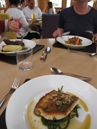 The Beach Restaurant: hake and samphyr catch of the day
