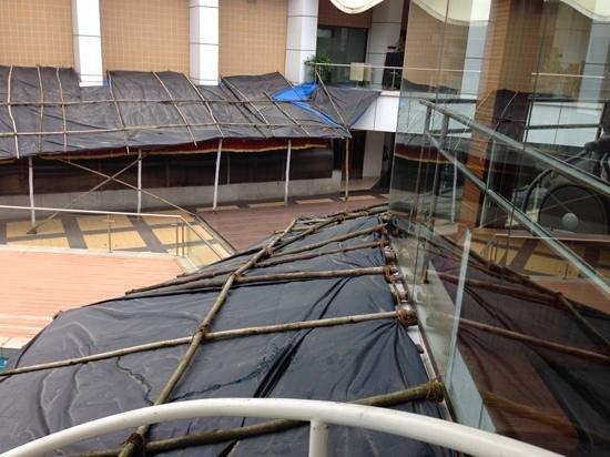 Ramada Navi Mumbai: Cover, decoration, or protection from stuff falling?