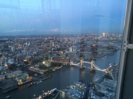 Shangri-La Hotel, At The Shard, London: view from our room