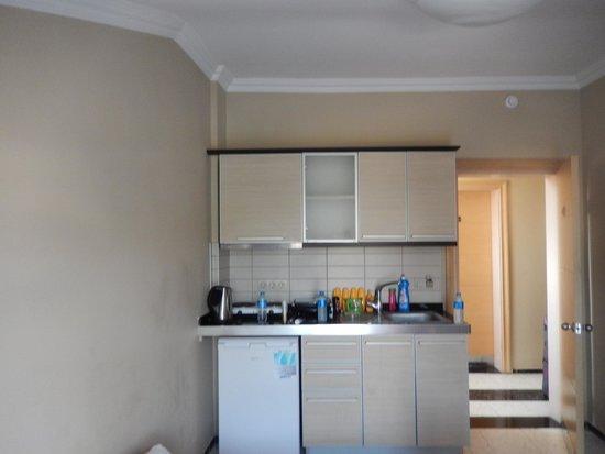 Candan Apart Hotel : kitchen area.