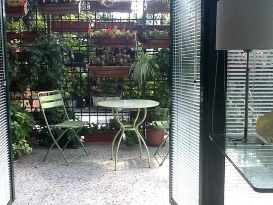 Antica Locanda dei Mercanti: the beautiful terrace from our room