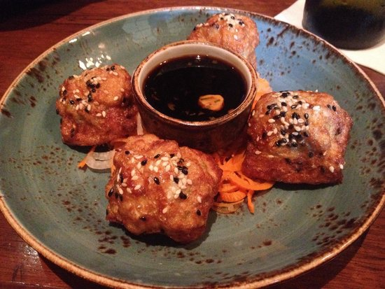 Gold Cup Wine Bar: Shrimp toast tasted like a big mush ball of bread. Very bad