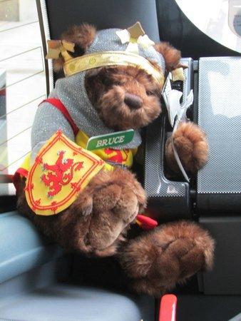 Timberbush Tours Glasgow - Day Tours: The Teddy bear on our coach