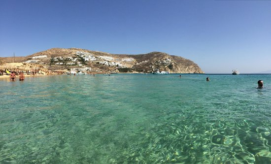Elia Beach: Clear waters and million dollar views