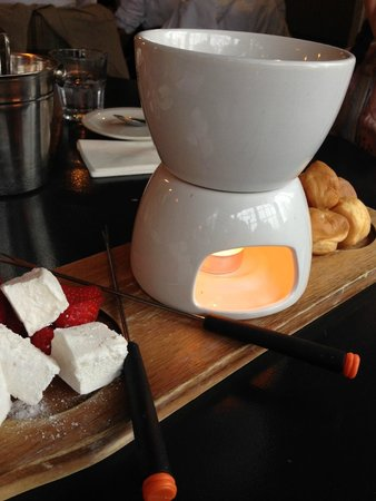 The Bell at Stow: The chocolate fondue!