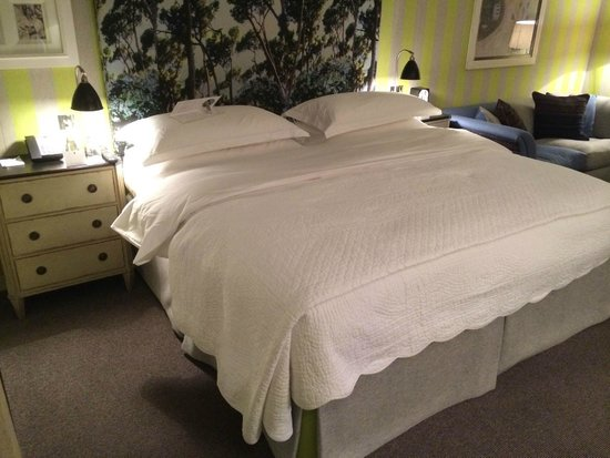 The Soho Hotel: The room after turndown service