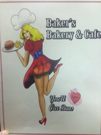 Baker's Bakery & Cafe : The logo on the menu