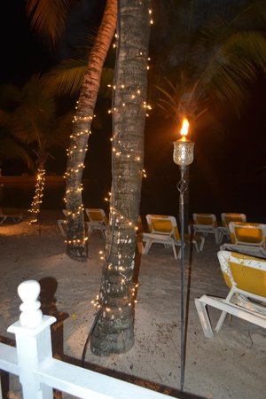 Coco Reef Tobago: Night time at the beach