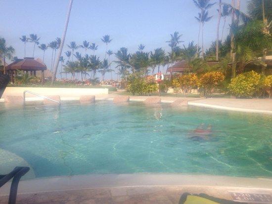 Now Larimar Punta Cana: Quieter pool behind main pool
