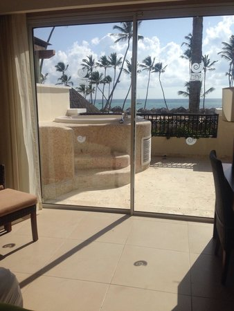 Now Larimar Punta Cana: View from our bedroom in preferred club master suite ocean front view