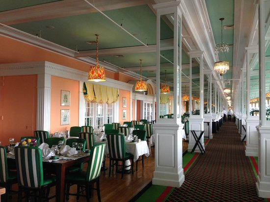 The Grand Hotel Luncheon Buffet Peeking In Dining Room Before Lunch