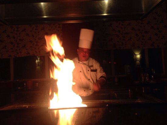 Now Larimar Punta Cana: Hibachi table in spice, beautiful food here!