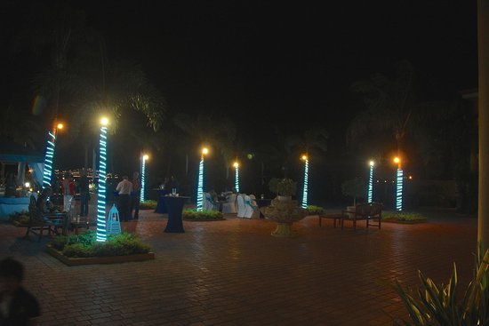 Aruba Surfside Marina: view by night