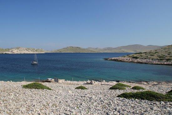 Kornati National Park: At anchor at island Mana