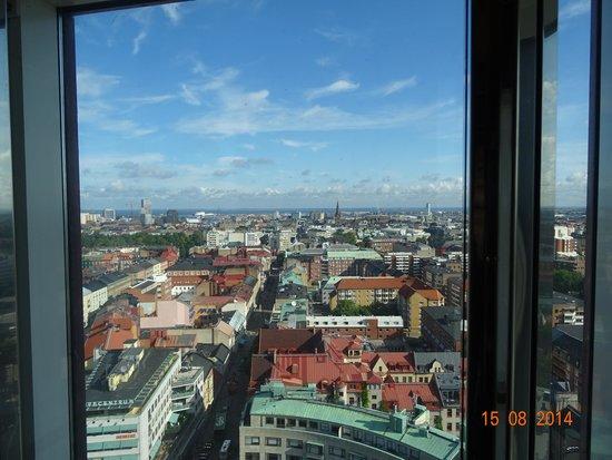 Scandic Triangeln: vue de l'ascenseur