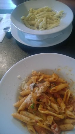 Rossini Restaurant Bedlington: Penne Carbinara, Penne Amatriciana