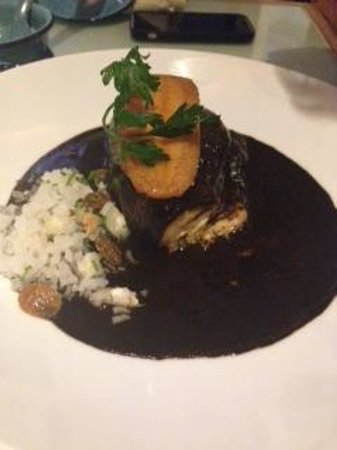 Azul Condesa: Chicken mole - Served with rice on the side