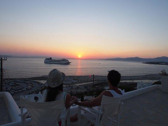 Marina View : sun set view on deck