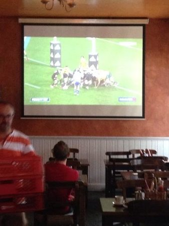 Flanagan's: rugby on big screen